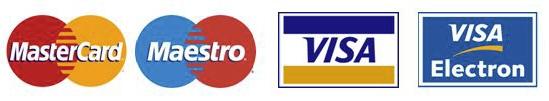 Visa, Visa Electron, Mastercar o Maestro